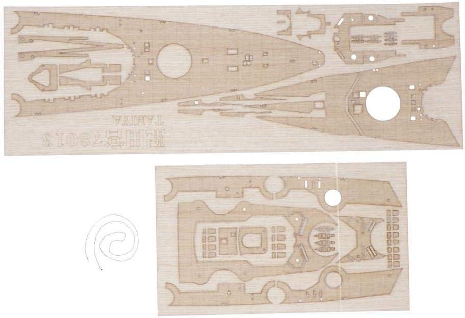 1//350 Madera alem/án Hellery 1//350 Kits Desmontados de Madera de Buque de Acorazado Alem/án de Madera