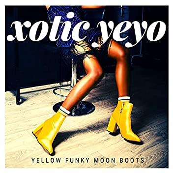 Yellow Funky Moon Boots