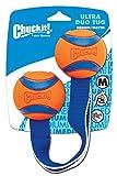 Chuckit! 232201 Duo Tug M, 2 Bolas Conectadas para Perros, Compatible con el Lanzador, M
