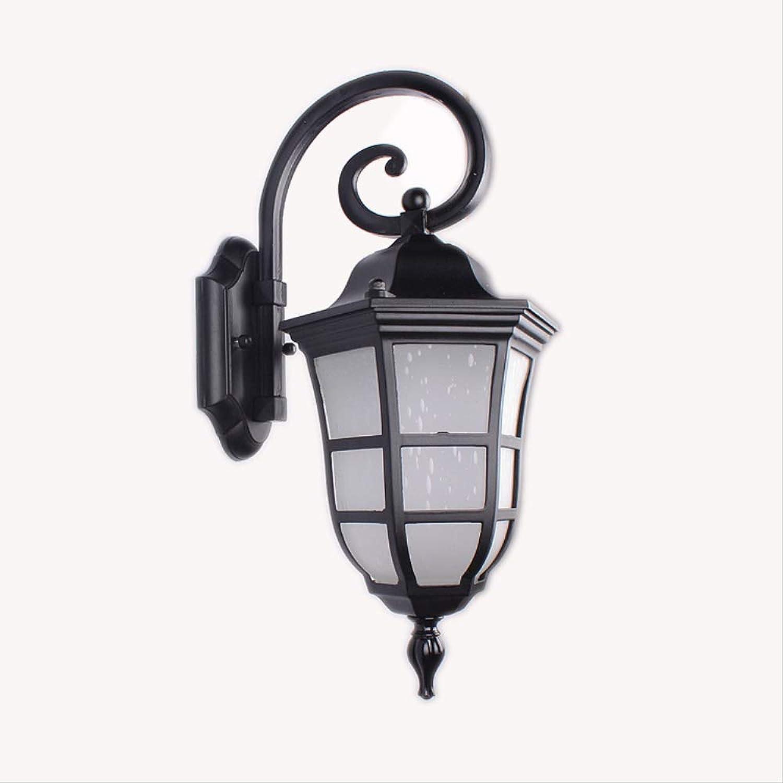 AMTSKR Auenwandlampe Villa Tür-hof-wandlampe, Led-wandleuchten Retro-outdoor-wasserdichte Glaswandlampe