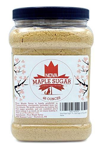 Nova Maple Sugar - Pure Grade-A Maple Sugar (3 Pounds)