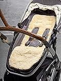 Naturally Sheepskins Kinderwagen Auflage aus Lammfell, Sitzauflage, Unterlage, 75cm x 30cm, elfenbeinfarben, atmungsaktiv, universell, hochwertig, warm im Winter
