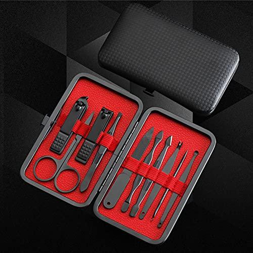 Manicura Set - Manicura y Pedicura Profesional Herramientas de Cortauñas Manicura Uñas Clipper Kit de Viaje Ear Pick Set Ceja y Nariz Recortador de Pelo Preparación Kit de Tijeras de Uñas Belleza Cuid