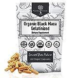 USDA Organic Vegan Gelatinized Black Maca Root- 3X Stronger per Serve- Veg Capsules -Pure Peruvian Extract Powder Pills- Increased Energy Levels -Women & Men Supplement -Nourishing Nutrients