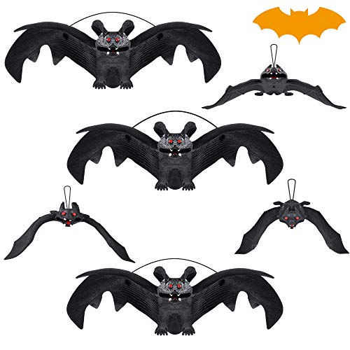 EVERSEE Halloween Decoration, Halloween Party Supplies 3D Halloween Bat Decoration Hanging Bat Decorative Scary Bats Halloween Party Favors and Decoration