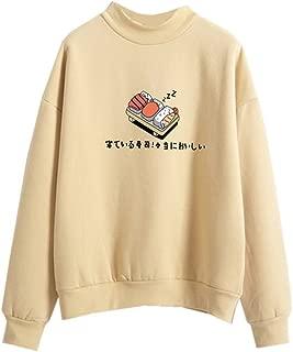 Harajuku Pastel Sweater Japanese Sushi Cartoon Tumblr Shirts Teen Girl