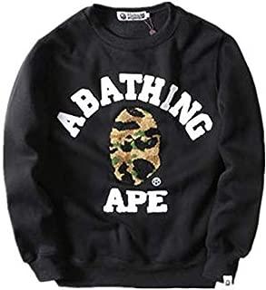 Cooyi Bape Fashion Casual Long Sleeve Crewneck Sweatshirt Sweater for Men/Women