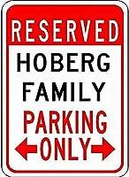 金属サインホーベルファミリー駐車場ノベルティスズストリートサイン