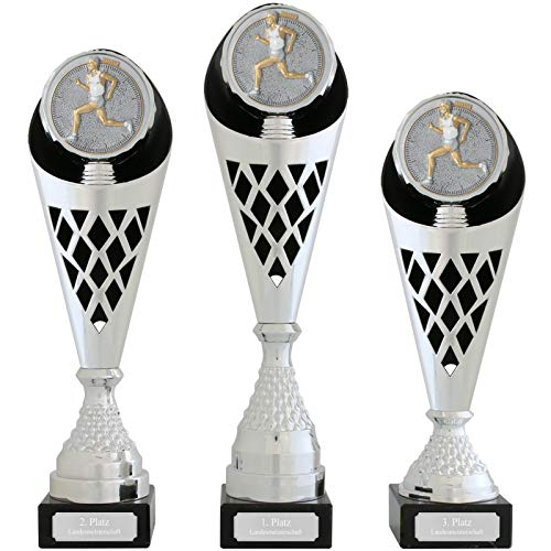 pokalspezialist Pokal S Verdun Serie Laufen Trophäe Silber groß mit Gravur