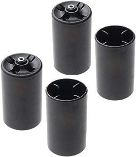 Bartram 電池変換アダプター 電池変換ケース 電池スペーサー 単3形電池を単1形電池に変換 単3電池を1本入れて単1電池にする電池スペーサー 転換装置 高耐久 4個セット