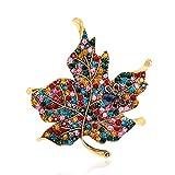 Gulang-keng - Broche para mujer, diseño vintage, diseño de hojas de arce