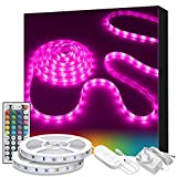 LED Strip Lights, Govee 10m RGB Multicolour Rope Light Strip Kit with Remote and Control Box for Room Ceiling Bedroom Cupboard Decoration with Bright 5050 LEDs, Strong 3M Adhesive, 2pcs x 5m