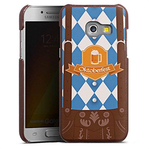 DeinDesign Cover kompatibel mit Samsung Galaxy A3 2017 Lederhülle Leder Case Leder Handyhülle Oktoberfest Lederhose Bier
