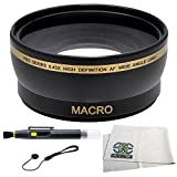 0.43x Wide Angle Lens Kit for Canon Rebel (SL1 T6s T6i T5i T4i T3i T3 T2 T2i T1i XT XTi XSi XS), Canon EOS (1100D 650D 600D 550D 500D 450D 400D 350D 300D 60D 70D 7D Mark II 6D 5D Mark III)