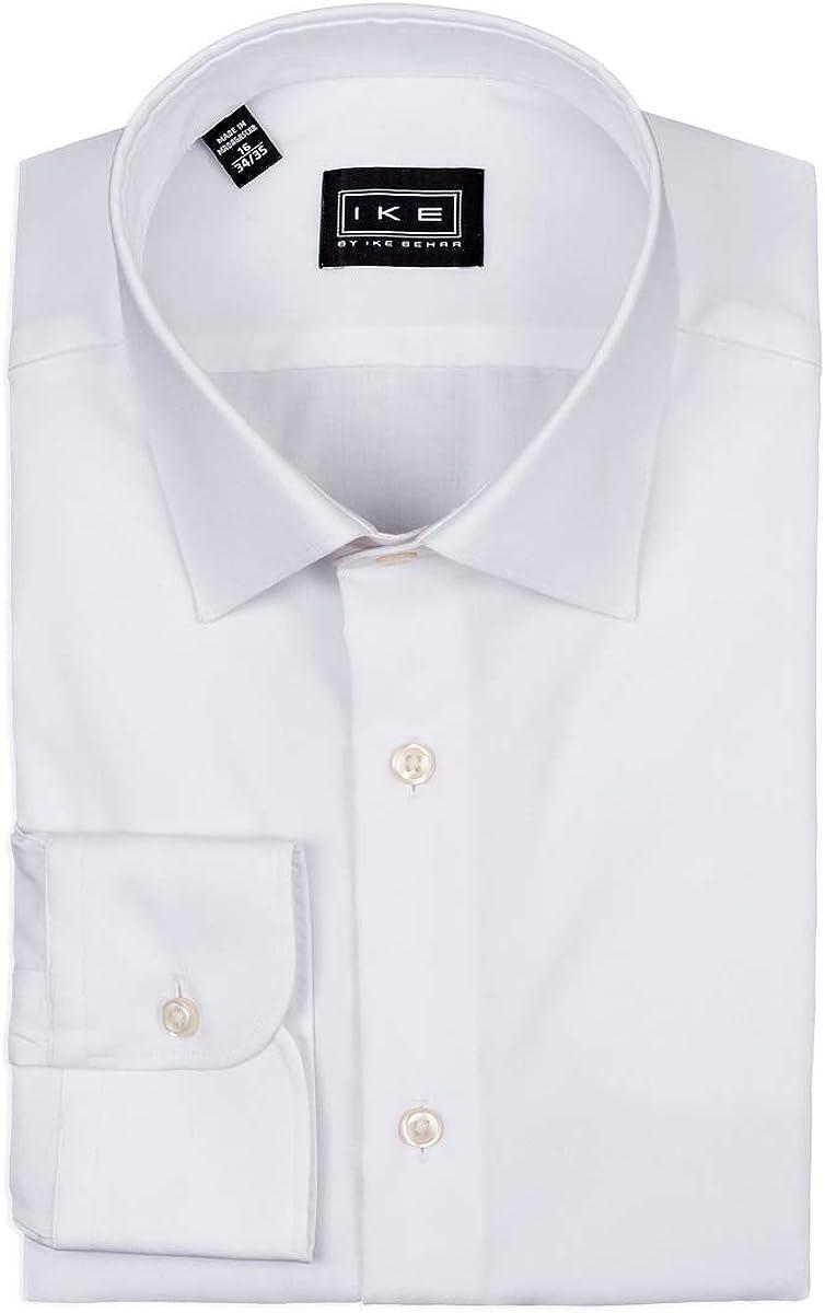 IKE Behar White Twill Dress Shirt