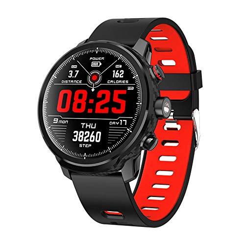 Yuyle Smartwatch Smartwatch, weerweergave, 100 dagen in stand-bymodus IP68, hartslagmonitor, waterdicht, voor draagbaar apparaat smartwatch, Rood