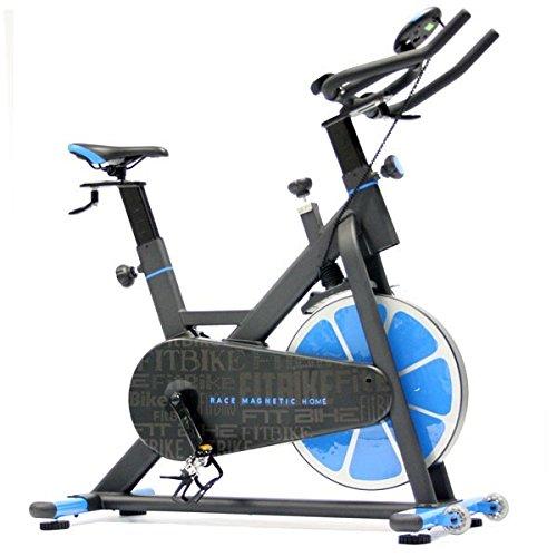 FitBike Indoor Cycle Race Magnetic Home - 20 kg Schwungrad - Poly V-Riemen und...