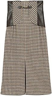 Lily Brown 带钻头的人造皮革拼接紧身裙 LWFS214097 女士
