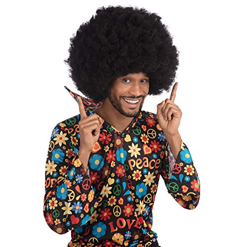 Bristol Novelty Novelty-BW477 BW477 Perruque Afro XL Jimmy Hendrix, Noir, Taille Unique