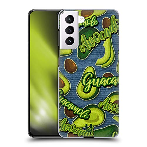 Head Case Designs Lilac and Cream All About Avocados Hard Back Case Compatible with Samsung Galaxy S21 5G