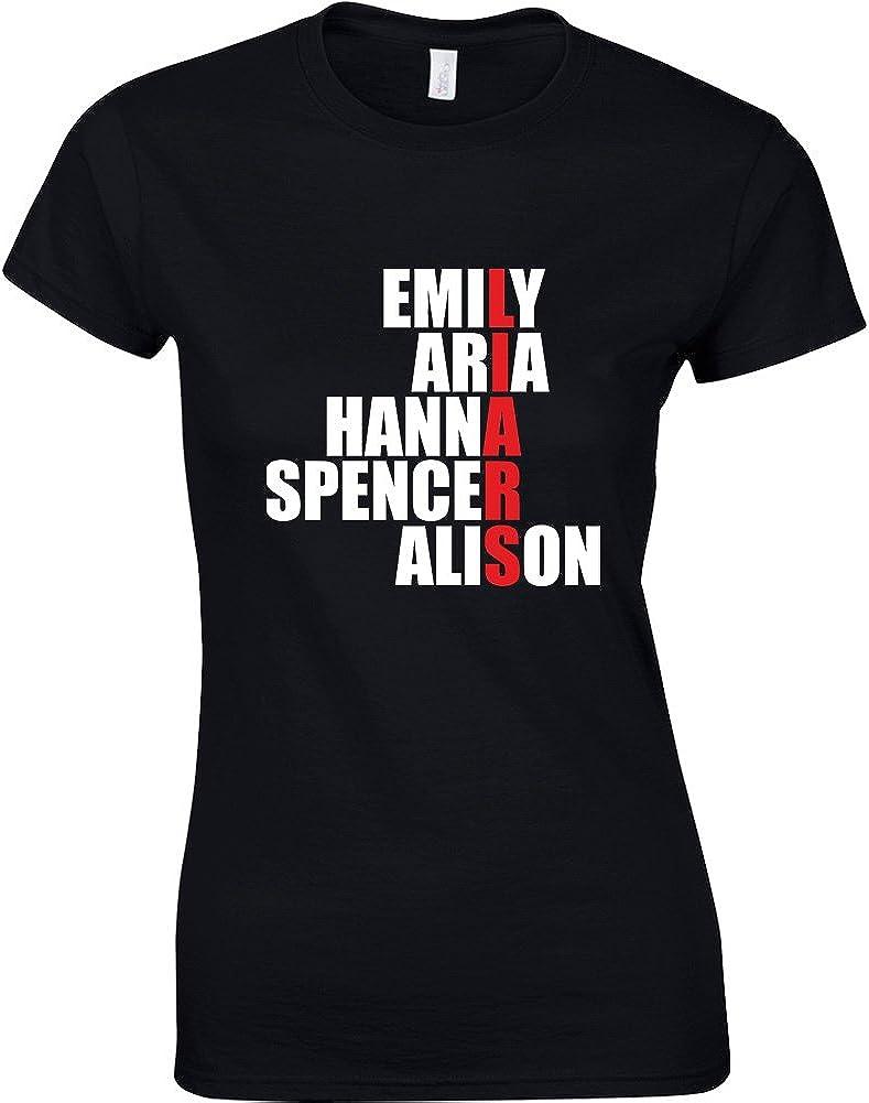 Hanna Emily Alison Spencer Brand88 Ladies Printed T-Shirt Aria