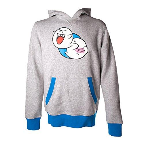 Nintendo Hoodie -L- Boo, grau/blau