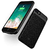 Wireless Battery Case Compatible with iPhone SE2 SE 2020 8 7 6s 6 2800mAh Ultra Slim Rechargeable Cover Support Headphone Qi Mosaic Wireless Charging Backup Extended Protective Shell Black 4.7 inch