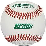 Diamond Dol-A Nfhs Official League Leather Baseballs 12 Ball Pack
