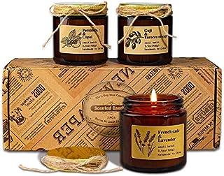 YMing Set de Regalo de Velas Aromaticas, Cera de Soja Natural Vertida a Mano, Mujeres y Hombres con Aceites Esenciales par...