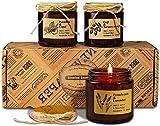 YMing Set de Regalo de Velas Aromaticas, Cera de Soja Natural Vertida a Mano, Mujeres y Hombres con Aceites Esenciales para el Alivio del Estrés y la Relajación