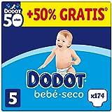 DODOT Bebé-Seco - Pañales Talla 5, 174 Pañales, 11-16kg, BOX ANIVERSARIO +50% GRATIS