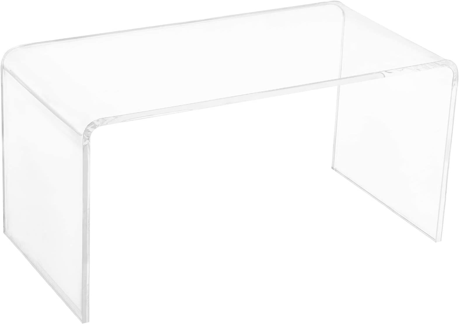 "HOMCOM 32"" Long Rectangle All Acrylic 20mm Thick Waterfall Coffee Table, Clear"