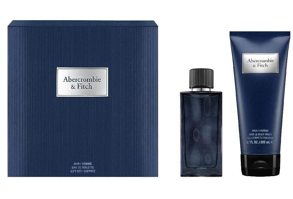 文句を言う個人的に団結アバクロンビー&フィッチ First Instinct Blue Coffret: Eau De Toilette Spray 50ml/1.7oz + Hair & Body Wash 200ml/6.7oz 2pcs並行輸入品