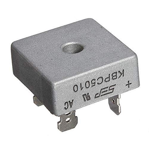 GIlH KBPC5010 1000 caja de metal voltios puente rectificador de diodos puente 1000V