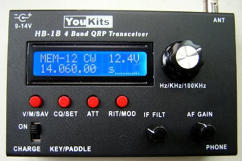 Youkits HB1B 2018 HF 4 Band QRP CW transceiver