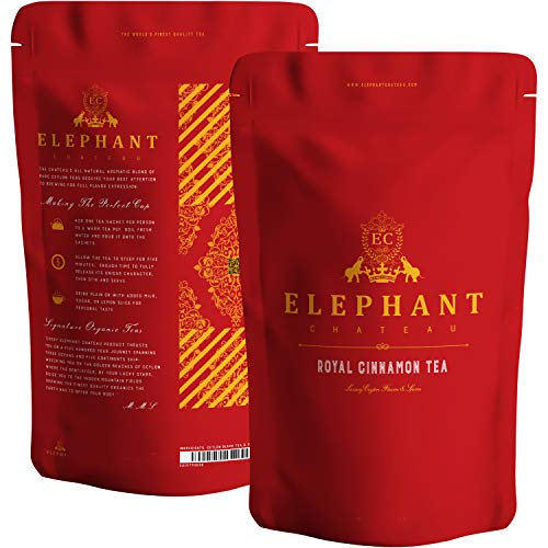 Royal Cinnamon Spice Tea Fresh Ceylon Cinnamon Chips | 100 Cups | Delicious Premium Loose Leaf | Perfect Hot amp Cold | Soul Warming Spicy Aroma | True Honey Cinnamon Pieces | No Artificial Flavors