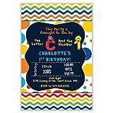 The Melange Market Custom Invitation - Sesame Street, Elmo, Big Bird, Primary Colors, Birthday, Shower