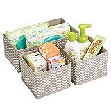 mDesign Cajas almacenaje juego de 3 – Cajas almacenaje ropa, toallas, sábanas – Ideales cajas...