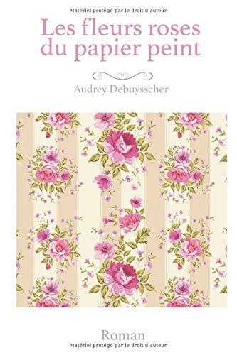 Les fleurs roses du papier peint