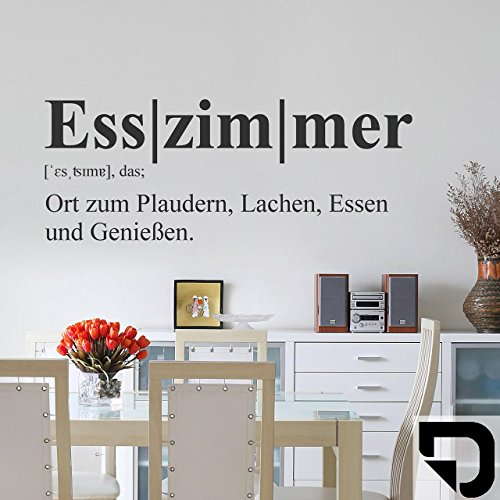 DESIGNSCAPE® Wandtattoo Esszimmer Begriff Definition 96 x 37 cm (Breite x Höhe) schwarz DW803272-M-F4