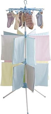 アイリスオーヤマ 洗濯物干し 室内物干し 16ピンチ 約4人分 パラソル3段 ブルー WSP173R