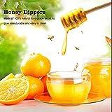 50 Pcs/Satz Haushalt Holz Tragbare Mini Marmelade Honig Dipper Jar Dispensing Sammeln Rührstab Stick Mino Dispense Drizzle Honig(8CM) - 4