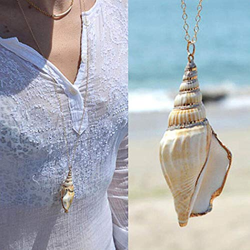 Artmiss Women Long Y Necklace Shell Pendant Necklace Starfish Gold Chain for Girls