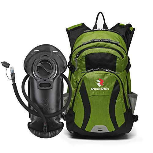 ROCKRAIN Hydration Backpack, WindSeeker Insulated Hydration Pack with 2.5L BPA Free Water Bladder, Lightweight Water Backpack Fits Cycling Biking Hiking, Outdoor Gear for Men Women