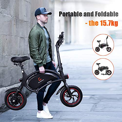 urbetter Electric Bike for Adults, Foldable Electric Bicycle Commute Ebike with 250W Motor, 12 inch 36V E-bike with 6.0Ah Lithium Battery, City Bicycle Max Speed 25 km/h, Disc Brake