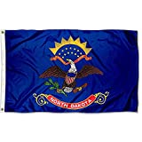 Stormflagchina Manufacturer North Dakota 3x5ft Flags Polyester with Brass Grommets and Double Stitched