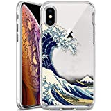 iPhone Xs Max Case,Slim Fit Shell Soft Thin Mobile Phone Clear Case Non Slip Matte Surface Protective Clear case iPhone Xs Max-The Great Wave