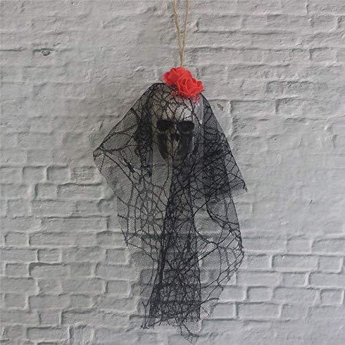 Halloween Halloween Decoration Skull Hanging Ghost Haunted House Hanging Grim Reaper Horror Props Home Door Bar Club Foam Ornaments Red
