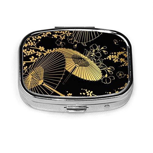 Abanico flor Unbrella japonés chino personalizado moda caja de pastillas cuadrada soporte...