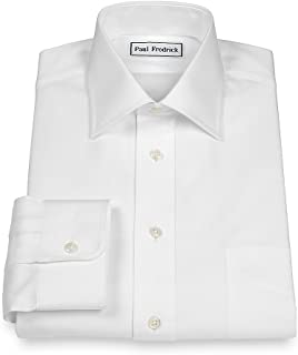 Men's Slim Fit Pinpoint Spread Collar Dress Shirt
